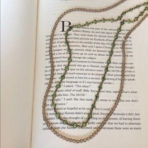Sorrelli Neutral Crystal Multi Strand Necklace